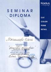 Диплом Мясниковой Ольги о прохождении курса обучения по программе «Женские стрижки» в 2007 году.
